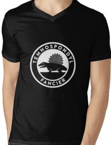 Temnospondyl Fancier Tee (White on dark) Mens V-Neck T-Shirt