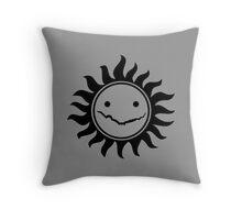 Superwholock - Grey Throw Pillow