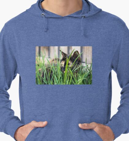 Cat in grass (non-clothing products) Lightweight Hoodie