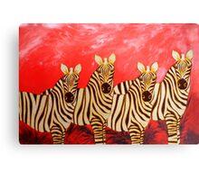 Zebra Collage Canvas Print