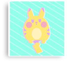 Pikachu Pastel Canvas Print