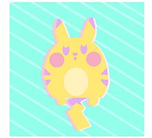 Pikachu Pastel Photographic Print