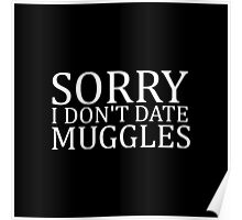 Sorry I Don't Date Muggles Poster