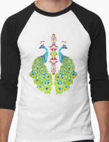 peacock Men's Baseball ¾ T-Shirt