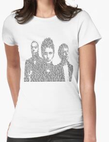 three young Womens Fitted T-Shirt