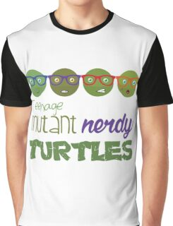 FunnyBONE Nerdy Turtles Graphic T-Shirt