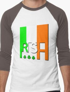 IRISH FLAG, GAEILGE, Ireland. Men's Baseball ¾ T-Shirt