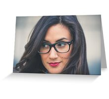 Woman wearing glasses Greeting Card