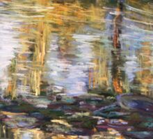 Willow reflections, Monets Garden, Giverny Sticker
