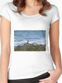 Bird at the Beach Women's Fitted Scoop T-Shirt