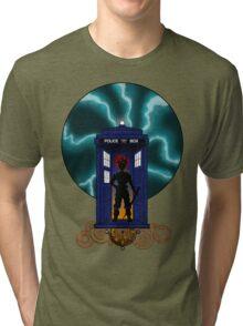 Chrono Who, Shirt & Gray Pillow/Tote  Tri-blend T-Shirt