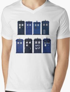 Doctor Who - The TARDIS Mens V-Neck T-Shirt