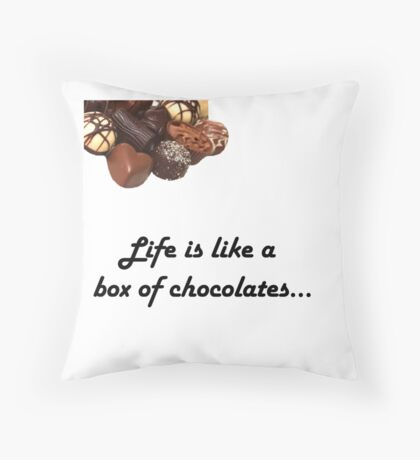 Forrest gump, Life is like a box of chocolates design :) Throw Pillow