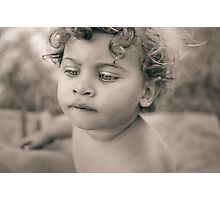 Portrait of cute little girl with bobbed hair Photographic Print