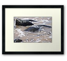 Rocks in the Water Framed Print
