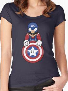 Captain Ah-Mario Women's Fitted Scoop T-Shirt