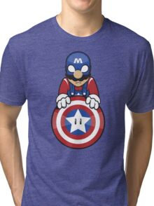 Captain Ah-Mario Tri-blend T-Shirt
