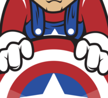 Captain Ah-Mario Sticker
