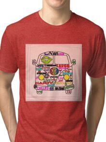 Sticker Bomb Split Tri-blend T-Shirt