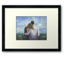LOOKING FORWARD LOVING COUPLE Framed Print