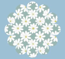 Bright Happy Daisies on Mint Kids Clothes