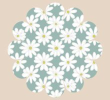 Bright Happy Daisies on Mint T-Shirt