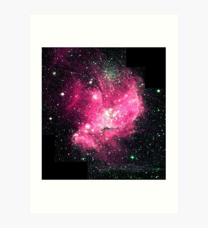 Magellan Nebula [Pink] | Fresh Universe Art Print