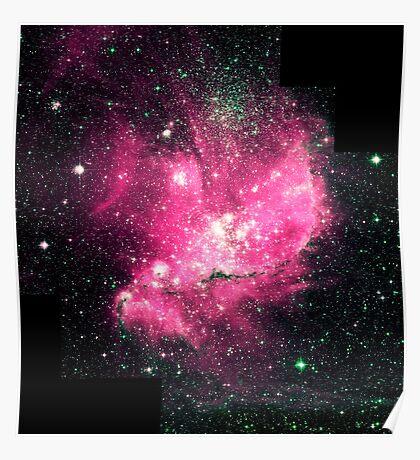 Magellan Nebula [Pink]   Fresh Universe Poster