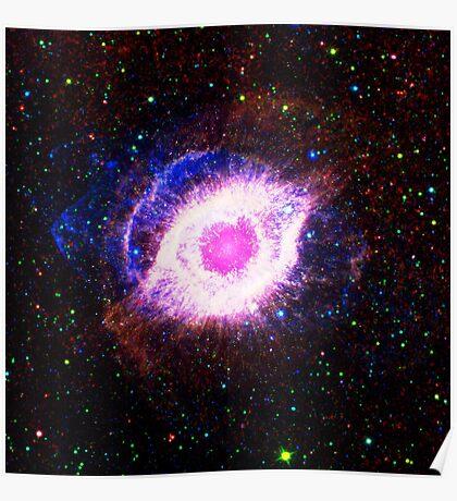 Helix Nebula Triangle   Fresh Universe Poster