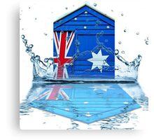 Aussie Beach Hut Canvas Print