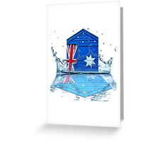 Aussie Beach Hut Greeting Card