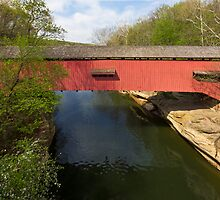 Narrows Covered Bridge at Turkey Run by Kenneth Keifer