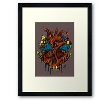 Mother Earth (orange) Framed Print