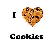 Cute I love cookies design! :) Photographic Print