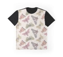Moth pattern on cream background Graphic T-Shirt