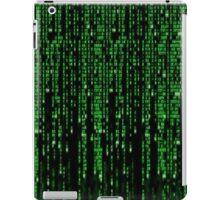 Matrix code style design iPad Case/Skin