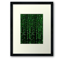 Matrix code style design Framed Print