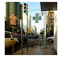 Mannequin Street Sign Photographic Print