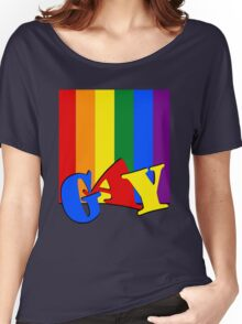 GAY Rainbow Flag Women's Relaxed Fit T-Shirt