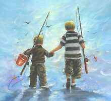 TWO BROTHERS GOING FISHING by VickieWade