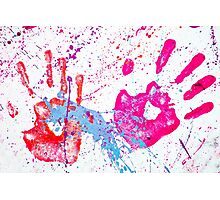 Red Hands Photographic Print