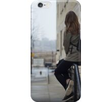 woman sitting on the stair rod iPhone Case/Skin