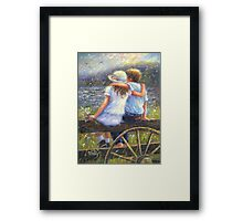 SUMMER LOVE YOUNG LOVE Framed Print