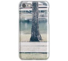 two woman sitting on two bench iPhone Case/Skin