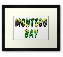 Montego Bay Word With Flag Texture Framed Print