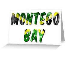 Montego Bay Word With Flag Texture Greeting Card