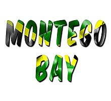 Montego Bay Word With Flag Texture Photographic Print