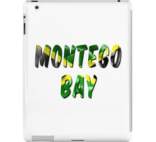 Montego Bay Word With Flag Texture iPad Case/Skin