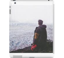 man watching the snow mountains iPad Case/Skin