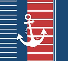 Trendy Nautical Stripe Design by EveStock
